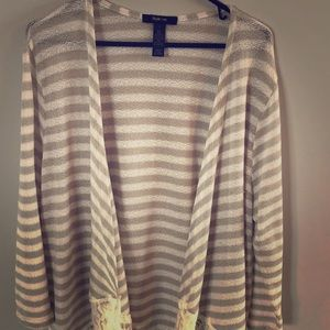 Style & Co Open Front Cardigan Size L